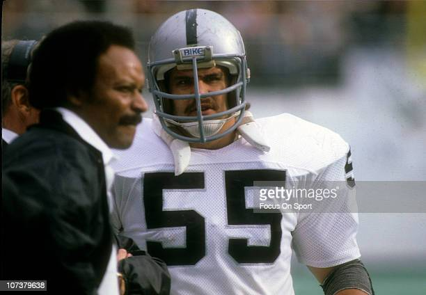 Matt Millen of the Los Angeles Raiders looks on from the sidelines during an NFL football game circa 1984 Millen played for the Raiders from 198081