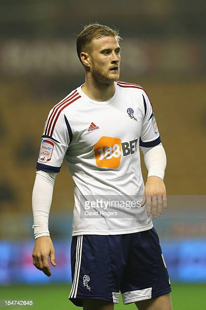 Matt Mills of Bolton looks on during the npower Championship match between Wolverhampton Wanderers and Bolton Wanderers at Molineux on October 23...