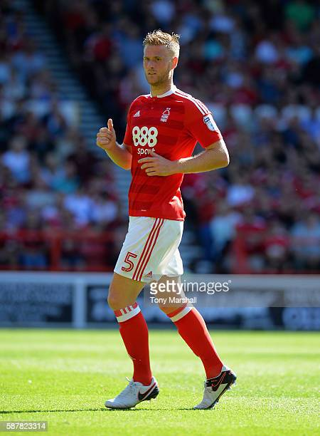Matt Mills of Nottingham Forest during the Sky Bet Championship match between Nottingham Forest and Burton Albion at City Ground on August 6 2016 in...
