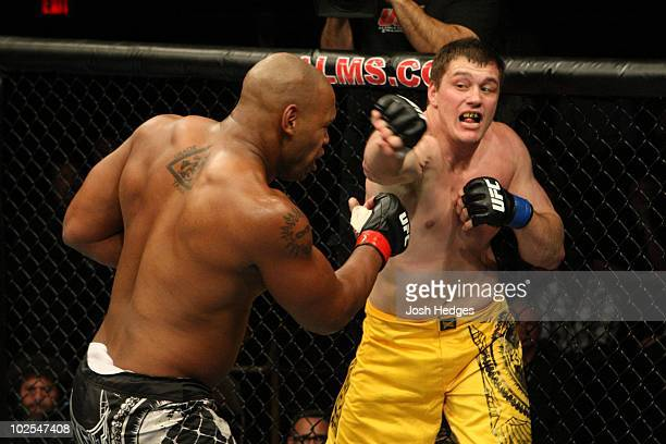 Matt Mitrione def Marcus Jones KO 10 round 2 during The Ultimate Fighter 10 Finale at The Pearl at the Palms on December 5 2009 in Las Vegas Nevada