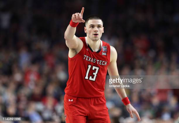 Matt Mooney of the Texas Tech Red Raiders reacts in the second half against the Michigan State Spartans during the 2019 NCAA Final Four semifinal at...