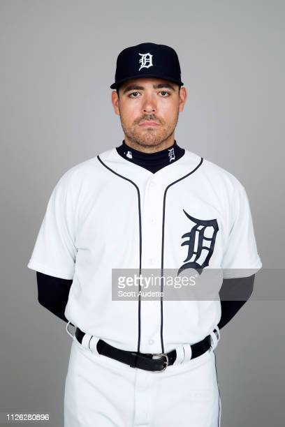 Matt Moore of the Detroit Tigers poses during Photo Day on Tuesday February 19 2019 at Publix Field at Joker Marchant Stadium in Lakeland Florida