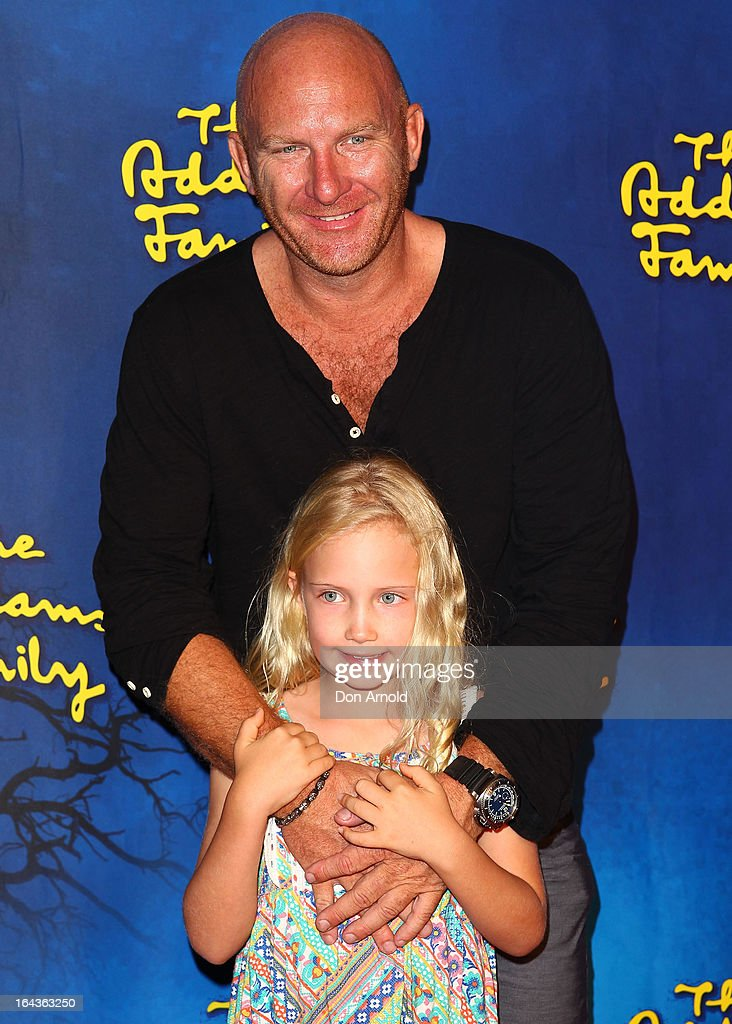 Matt Moran and daughter Amelia arrive for 'The Addams Family' Musical Premiere at the Capitol Theatre on March 23, 2013 in Sydney, Australia.