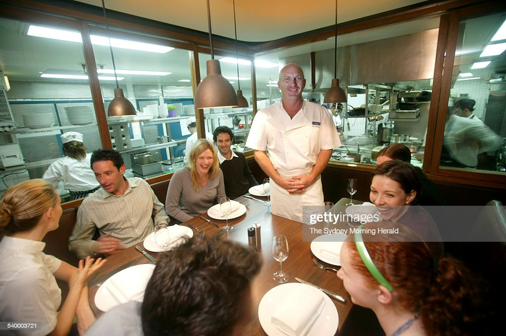Medium image of matt moran with his new chef u0027s table inside the aria kitchen at circular quay