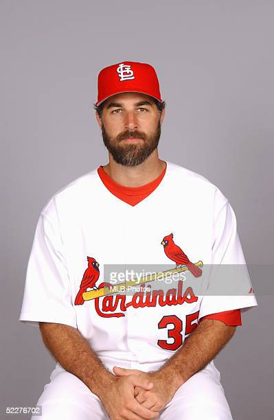 Matt Morris of the St Louis Cardinals poses for a portrait during photo day at Roger Dean Stadium on February 25 2005 in Jupiter Florida
