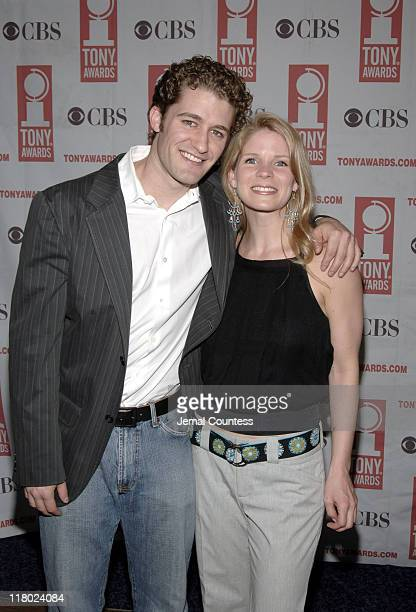 Matt Morrison and Kelli O'Hara during 59th Annual Tony Awards 'Meet The Nominees' Press Reception at The View at The Marriot Marquis in New York City...