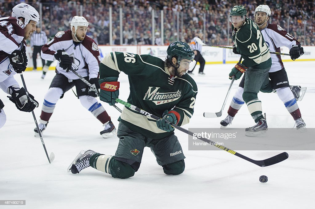 Colorado Avalanche v Minnesota Wild - Game Six : News Photo