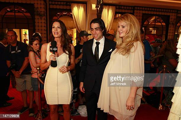 Matt Moulson of the New York Islanders and guest arrive before the 2012 NHL Awards at the Encore Theater at the Wynn Las Vegas on June 20 2012 in Las...