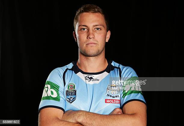 Matt Moylan of the Blues poses during a New South Wales Blues NRL State of Origin portrait session at The Novatel on May 24 2016 in Coffs Harbour...