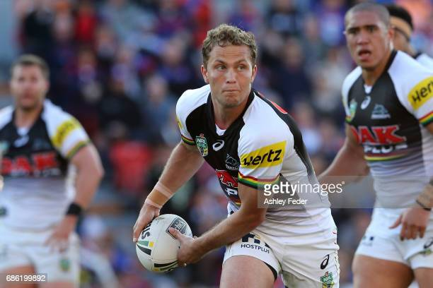 Matt Moylan of the Panthers in action during the round 11 NRL match between the Newcastle Knights and the Penrith Panthers at McDonald Jones Stadium...