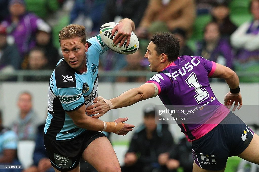 NRL Rd 22 - Storm v Sharks : News Photo
