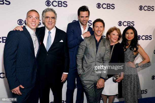 Matt Murray Elliott Gould David Walton Mark Feuerstein Linda Lavin and Liza Lapira attend the 2017 CBS Upfront on May 17 2017 in New York City