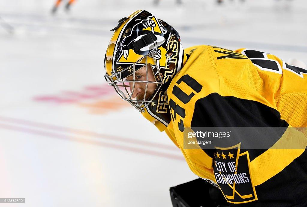 brand new bf362 33622 Matt Murray of the Pittsburgh Penguins looks on during ...