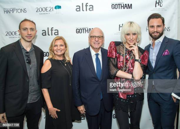 Matt Namer Debra Halpert Howard Lorber ML Perlman and Glenn Davis attend the Alfa Development Launch Celebration on October 12 2017 in New York City