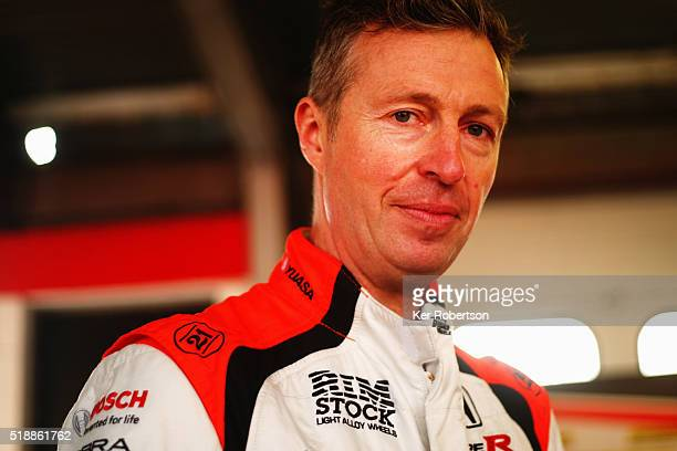 Matt Neal of Halfords Yuasa Honda prepares to drive during race one of the Dunlop MSA British Touring Car Championship at Brands Hatch on April 3,...