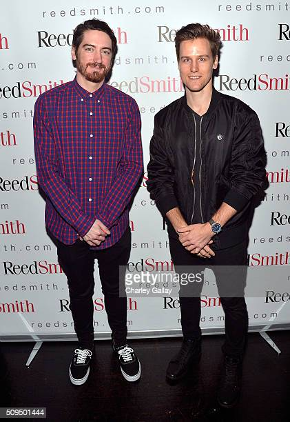 Matt Nemethy and Graham Muron attend the Reed Smith GRAMMY Party at The Sayers Club on February 10 2016 in Hollywood California