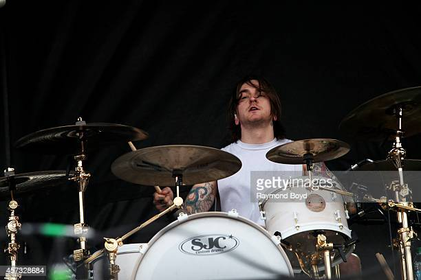 Matt Nicholls from Bring Me The Horizon performs during the 'Louder Than Life' Music Festival in Champions Park on October 05 2014 in Louisville...