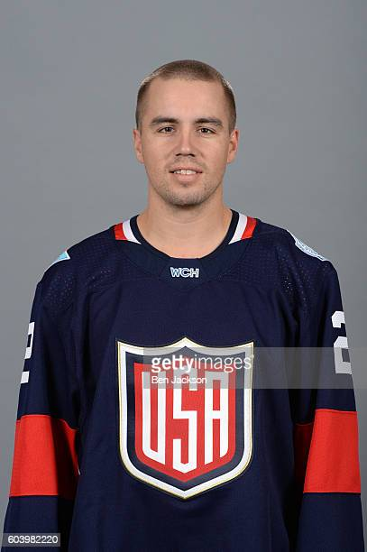 Matt Niskanen of Team USA poses for his official World Cup of Hockey head shot at Nationwide Arena on September 5 2016 in Columbus Ohio