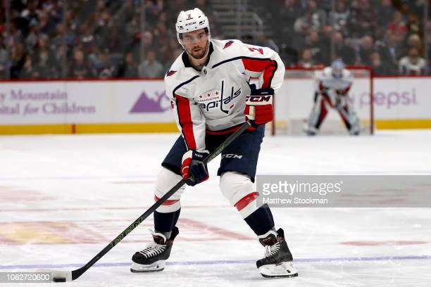 Matt Niskanen of the Washington Capitals plays the Colorado Avalanche at the Pepsi Center on November 16 2018 in Denver Colorado