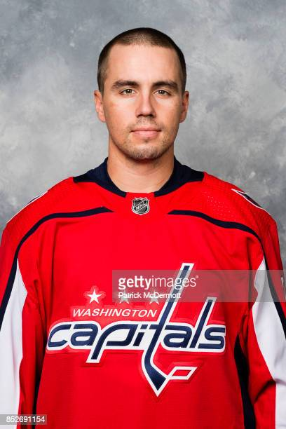 Matt Niskanen of the Washington Capitals poses for his official headshot for the 20172018 season on September 14 2017 at Kettler Capitals Iceplex in...