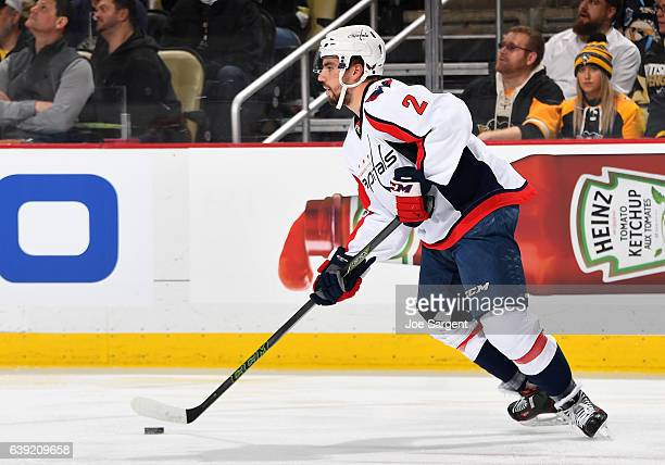 Matt Niskanen of the Washington Capitals skates against the Pittsburgh Penguins at PPG Paints Arena on January 16 2017 in Pittsburgh Pennsylvania