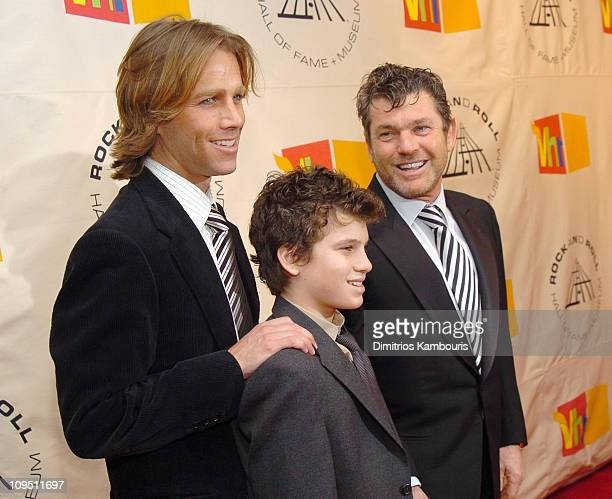 Matt Nye and inductee Jann Wenner and son during The 19th Annual Rock and Roll Hall of Fame Induction Ceremony Arrivals at Waldorf Astoria in New...