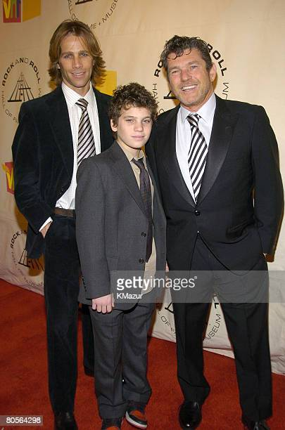 Matt Nye and inductee Jann Wenner and son