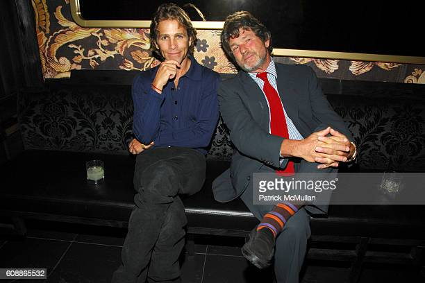 Matt Nye and Jann Wenner attend Men's Vogue Dinner in Honor of Roger Federer at Wakiya on August 23 2007 in New York City