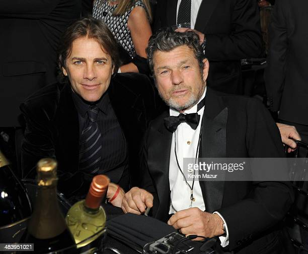 Matt Nye and Rolling Stone Publisher Jann Wenner attend the 29th Annual Rock And Roll Hall Of Fame Induction Ceremony at Barclays Center of Brooklyn...