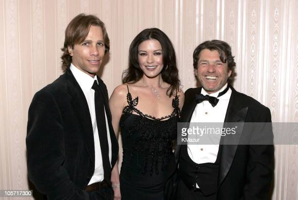 Matt Nye Catherine ZetaJones and Jann Wenner during 20th Annual Rock and Roll Hall of Fame Induction Ceremony Green Room at Waldorf Astoria in New...