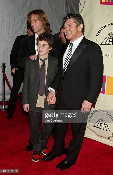 Matt Nye Inductee Jann wenner and Son during The 19th Annual Rock and Roll Hall of Fame Induction Ceremony Arrivals at Waldorf Astoria in New York...