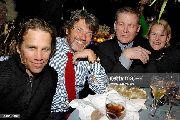 Matt Nye Jann Wenner Terry McDonell and Mary McDonell attend WOODY JOHNSON's Wig Out 60th Birthday Party at Doubles on April 12 2007 in New York City