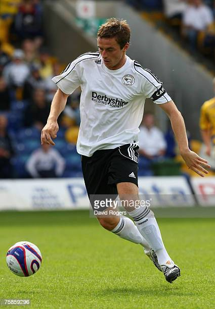 Matt Oakley of Derby County pictured during the pre season friendly match between Mansfield Town and Derby County at Field Mill on July 28, 2007 in...