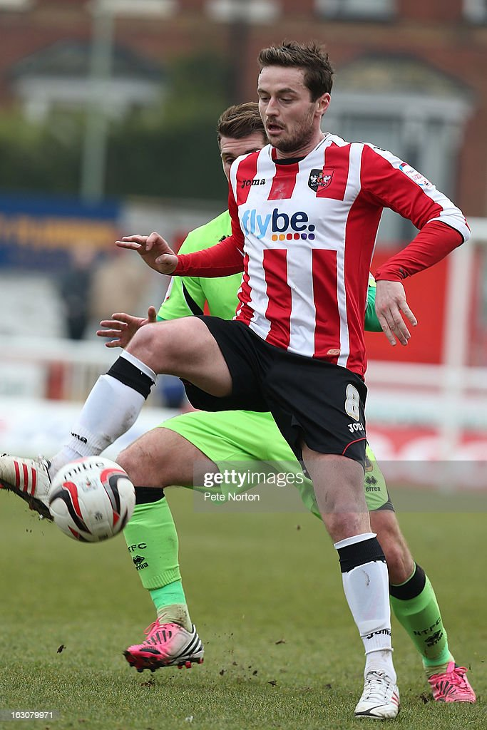 Matt Oakley of Exeter City in action during the npower League Two match between Exeter City and Northampton Town at St James's Park on March 2, 2013 in Exeter, England.