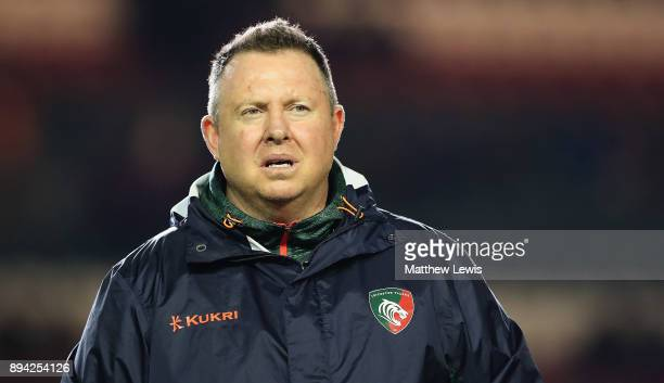 Matt O'Connor Director of Rugby of Leicester Tigers looks on ahead ofthe European Rugby Champions Cup match between Leicester Tigers and Munster...