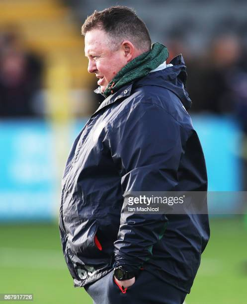 Matt O'Connor Leicester Tigers director of rugby is seen prior to the Aviva Premiership match between Newcastle Falcons and Leicester Tigers at...