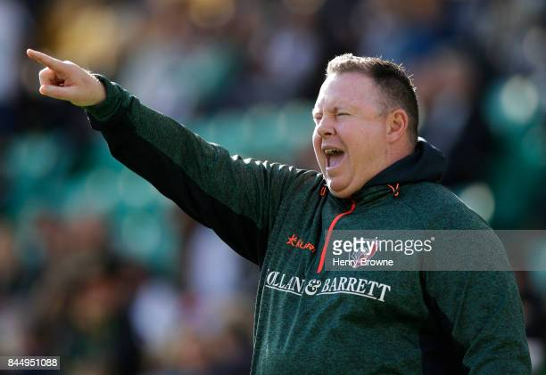 Matt O'Connor of Leicester Tigers during the Aviva Premiership match between Northampton Saints and Leicester Tigers at Franklin's Gardens on...
