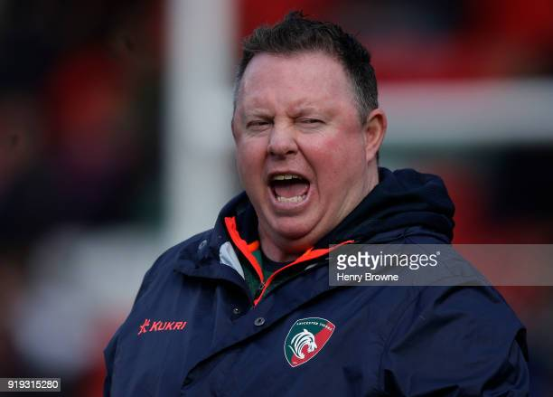 Matt O'Connor of Leicester Tigers during the Aviva Premiership match between Leicester Tigers and Harlequins at Welford Road on February 17 2018 in...