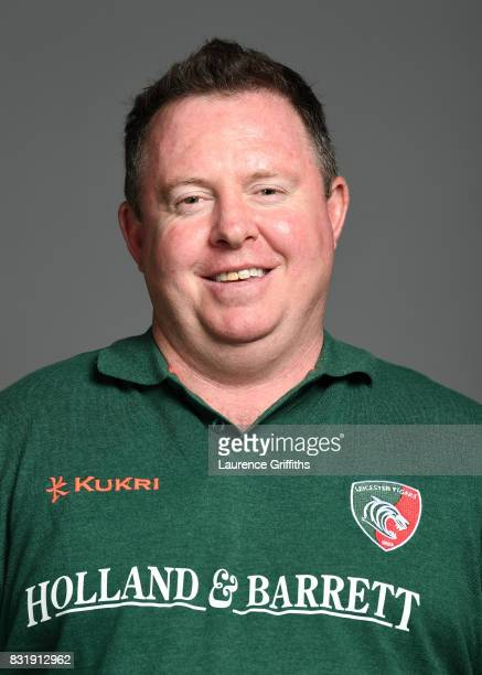 Matt O'Connor of Leicester Tigers poses for a portrait during the squad photo call for the 20172018 Aviva Premiership Rugby season at Welford Road on...