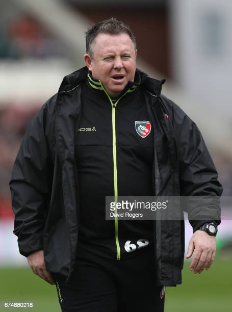 Matt O'Connor the Leicester director of rugby looks on during the Aviva Premiership match between Leicester Tigers and Sale Sharks at Welford Road on...