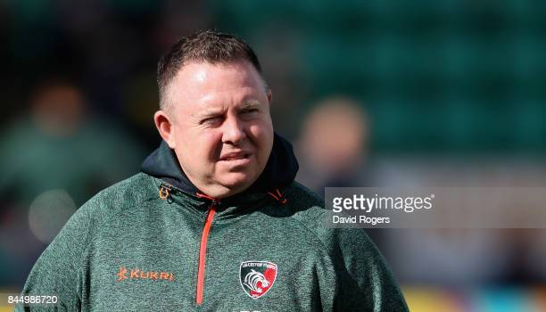 Matt O'Connor the Leicester Tigers director of rugby looks on during the Aviva Premiership match between Northampton Saints and Leicester Tigers at...