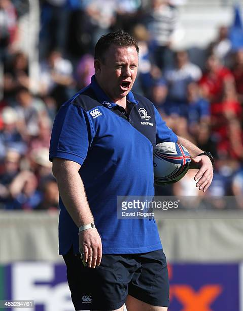 Matt O'Connor the Leinster director of rugby looks on during the Heineken Cup quarter final match between Toulon and Leinster at the Felix Mayol...