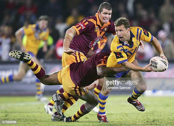 Matt Orford of City looks to pass during the NRL City v Country Origin match at Apex Oval May 12 2006 in Dubbo Australia