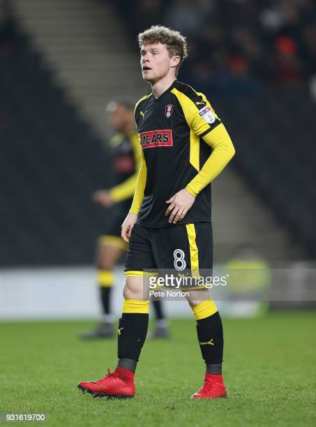 Matt Palmer of Rotherham United in action during the Sky Bet League One match between Milton Keynes Dons and Rotherham United at StadiumMK on March...
