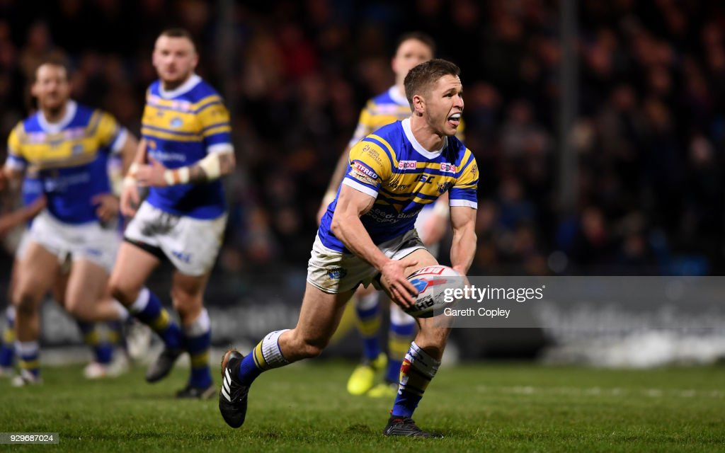 Matt Parcell of Leeds during the Betfred Super League match between Leeds Rhinos and Hull FC at Headingley Stadium on March 8, 2018 in Leeds, England.