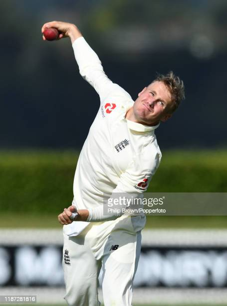 Matt Parkinson of England warms up during the match against a New Zealand XI at Cobham Oval on November 13 2019 in Whangarei New Zealand