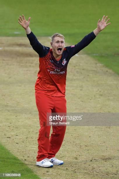 Matt Parkinson of Lancashire Lightning appeals during the T20 Vitality Blast match between Northamptonshire Steelbacks and Lancashire Lightning at...