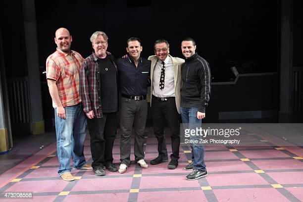 Matt Perri Christopher McGovern Robert Creighton Bill Castellino and Joshua Bergasse attend 'Cagney' cast photo call at The New York Theatre At Saint...