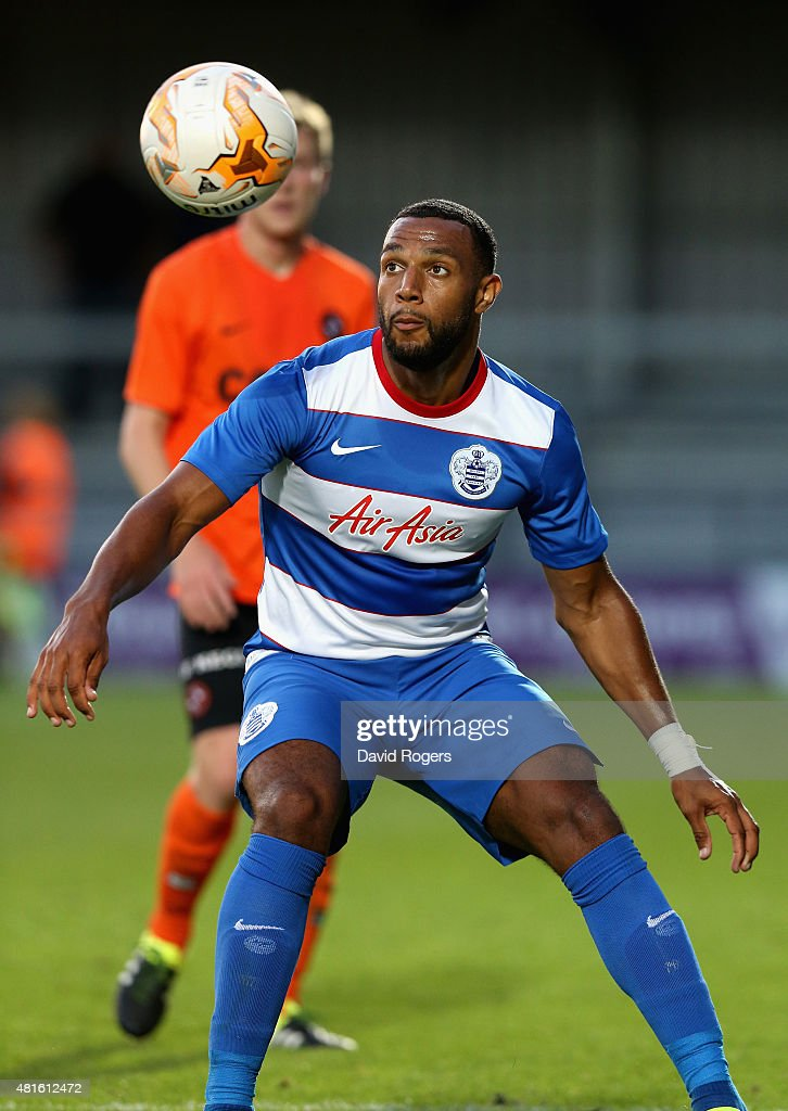 Matt Phillips of QPR looks on during the pre season friendly match between Queens Park Rangers and Dundee United at The Hive on July 22, 2015 in Barnet, England.