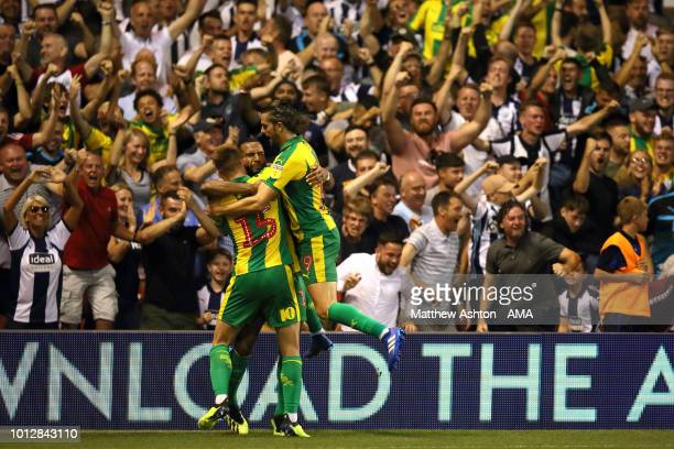 Matt Phillips of West Bromwich Albion celebrates after scoring a goal to make it 11 during the Sky Bet Championship match between Nottingham Forest v...